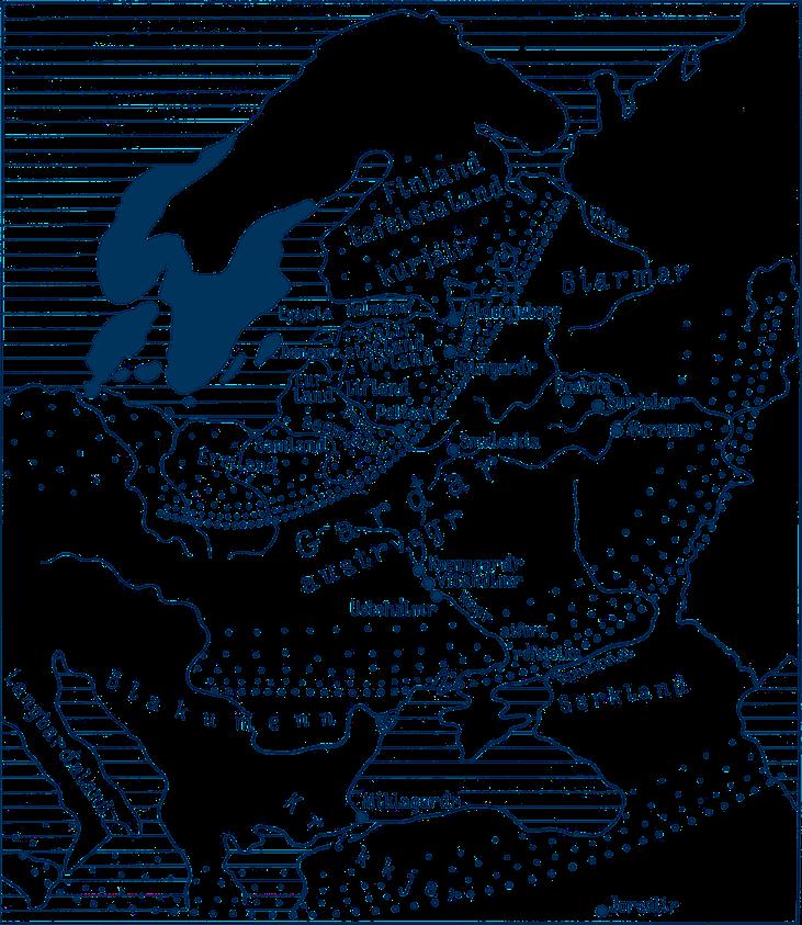 Карта Гардарики по скандинавским источникам